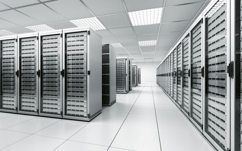 Interior View of a Data Center